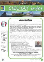 Cieutat Bulletin n°1 – Décembre 2020