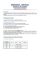Reglement interieur 2020-2021
