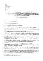 Arrêté Préfectoral COVID 01 2021