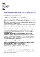 Résumé decret 30 01 2021
