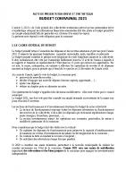 présentation budget prévisionnel 2021