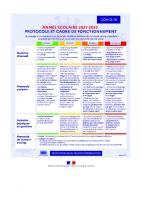 protocole sanitaire école 2021 2022